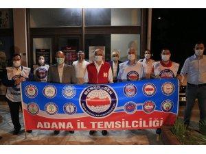 Memur-Sen Adana Temsilciğinden Kızılay'a kan bağışı