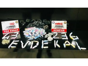 Diyarbakır'da 327 kilo esrar ele geçirildi