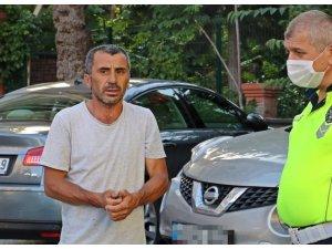 Trafikte sivil polisle tartıştığına bin pişman oldu