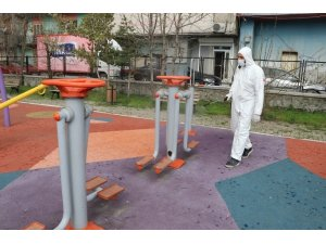 Ağrı'da parklar çocuklar için dezenfekte edildi