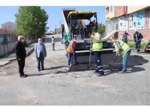 Ergene'de asfaltlama çalışmaları sürüyor