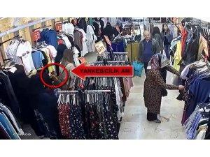 Alışveriş yapan kadınların korkulu rüyası kameralara yakalandı