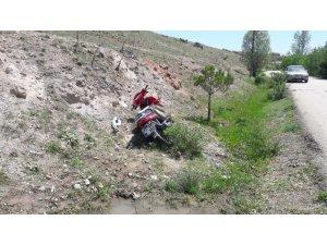Afyonkarahisar'da motosiklet kazası: 1'i ölü, 1 yaralı