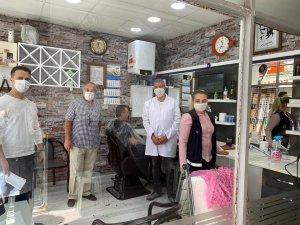 Lüleburgaz'da berber ve kuaför salonları denetlendi