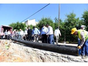 Başkan Seçer, kanalizasyon hattı çalışmalarını inceledi