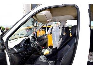 Malatya'da taksiler dezenfekte edildi