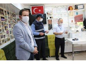 Ankara'da sık kullanılan alanlarda korona virüs denetimi