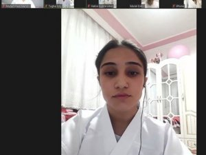 Karate sporcuları video konferans ile bir araya geldi