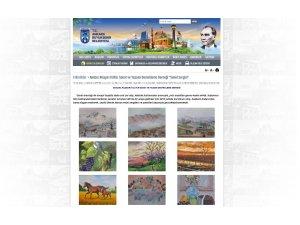 Sanatçıların eserleri Belediyenin internet sitesinde sergileniyor