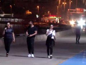 Isınan hava, koronavirüs salgınını unutturdu: İstanbullular iftar sonrası sahillere akın etti
