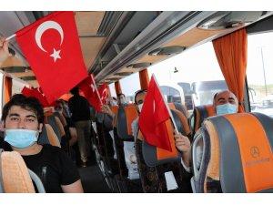 Nevşehir'de karantina süreleri biten 169 kişi memleketlerine uğurlandı