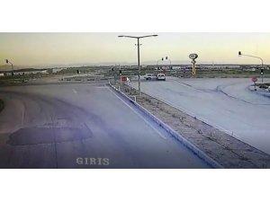Konya'da 5 kişinin yaralandığı kaza güvenlik kamerasında