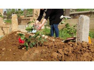Mezarlıklarda bayram öncesi yoğunluk