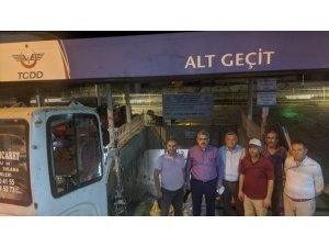 Nazilli Tren Garı'na yürüyen merdiven ve asansör yapılıyor
