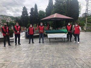 Cenaze namazını vefa ekibi kıldı