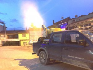 Hisarcık Belediyesinden haşere ilaçlama çalışması