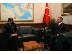 Bakan Akar, ABD Ankara Büyükelçisi Satterfield'i kabul etti