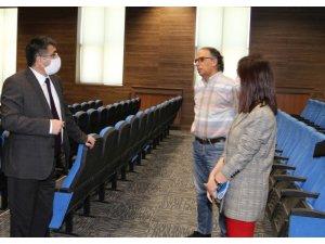 Rektör Aktekin, merkez yerleşkede incelemelerde bulundu