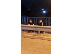 Hastaneden kaçtılar, yolda yürürken yakalandılar