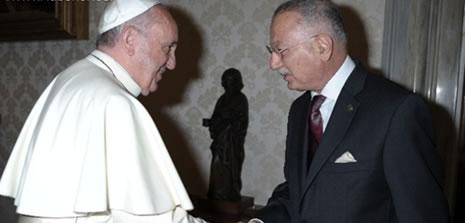 İhsanoğlu, Papa'yla görüştü