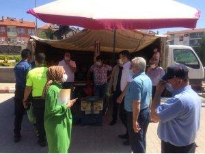 Dumlupınar pazarında korona virüs tedbirleri