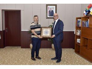 Başsavcısı Çiçekli'den Rektör Ataç'a veda ziyareti