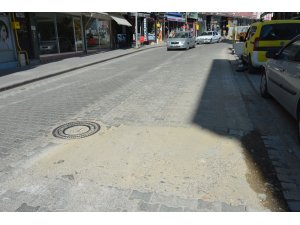 Havza'da yol çalışmalarına vatandaşlardan tam not