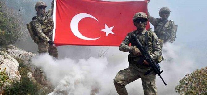 Mehmetçikler, teröristlerin inine girdi. Bayrağımızı dikti.
