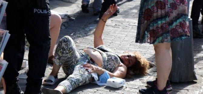 İstanbul'un göbeğinde güpegündüz sevgili şiddeti!