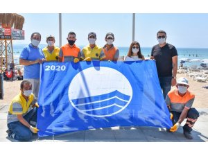 Didim'deki plajlarda mavi bayraklar dalgalanıyor