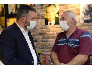 Başkan Çetin'den esnafa ziyaret
