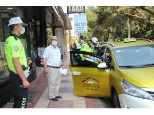 Aydın'da taksilere hijyen eğitim ve denetimi