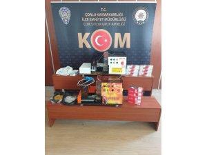 Tekirdağ'da tütün ve makaron operasyonu: 1 gözaltı