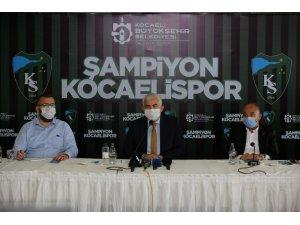 Şampiyon Kocaelispor'a yakışan kutlama