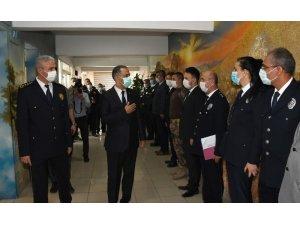 Vali Mahmut Çuhadar'dan emniyet müdürlüğüne ziyaret