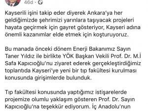 Doktor Başkan'dan Kayseri'ye ikinci Tıp Fakültesi müjdesi