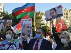 Eskişehir'de Ermenistan'ın saldırılarına karşı tepki yürüyüşü
