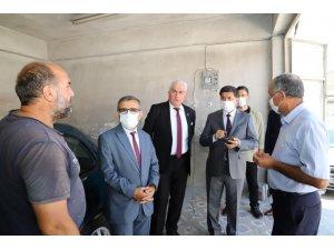 Başkan Aksun, Merkez Çarşısı esnafını ziyaret etti