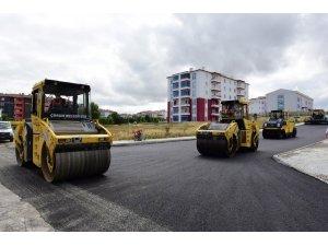 Ata sokakların asfaltı tamamlandı
