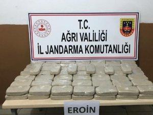 Ağrı'da 53 kilogram uyuşturucu madde ele geçirildi