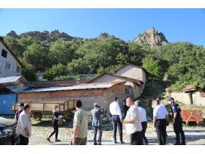 Kaya düşme tehlikesi 'Toprakarme Gabion' projesi ile çözülecek