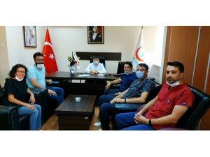 Edremit Devlet Hastanesinde yeni atanan yönetime ziyaret