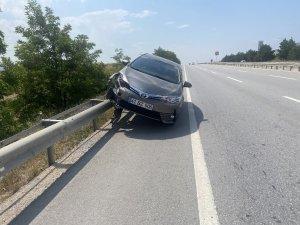 Bursa karayolunda ilginç kaza
