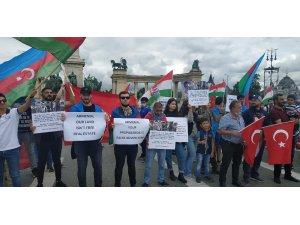 Budapeşte'de Ermenistan'ın saldırıları protesto edildi