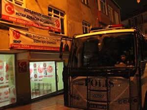 MHP bürosuna yapılan saldırı da 4 gözaltı