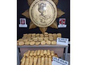Yüksekova'da 81 kilo 800 gram uyuşturucu ele geçirildi