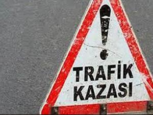 Karaman'da otomobil şarampole yuvarlandı