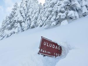 Uludağ'da kar kalınlığı
