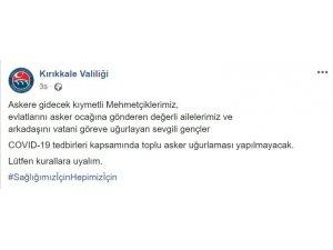 Kırıkkale'de 'toplu asker uğurlaması' yasaklandı