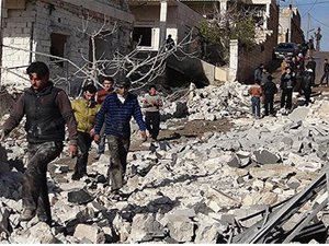 Halep'te varil bombalı saldırı: 10 ölü